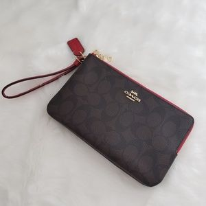 Coach Large Double Wristlet